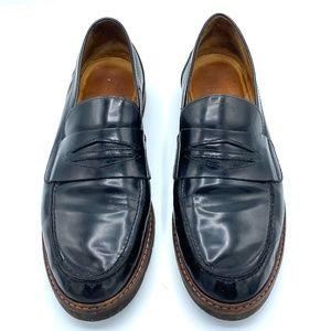Stuart Weitzman Black Patent Loafers Size 9.5 Wide